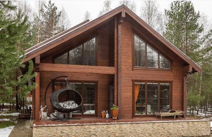 пример окосячки окон в деревянном доме