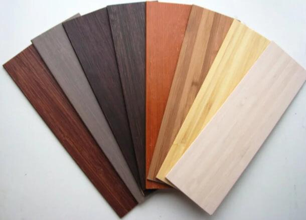 фото различных цветовых оттенков деревянных ламелей