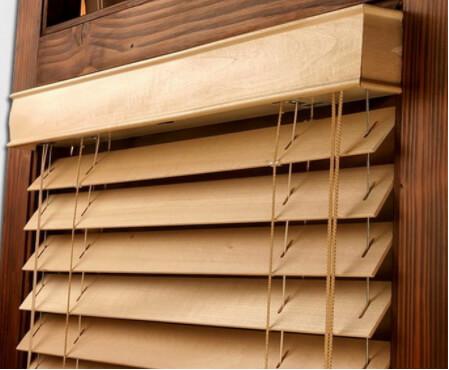 фото деревянных горизонтальных жалюзи