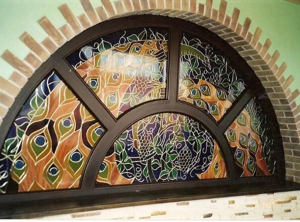 деревянные витражные окна премиум класса