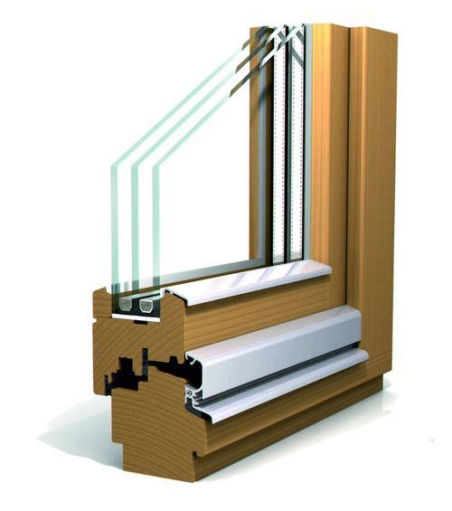 профиль деревянного окна из лиственницы от производителя
