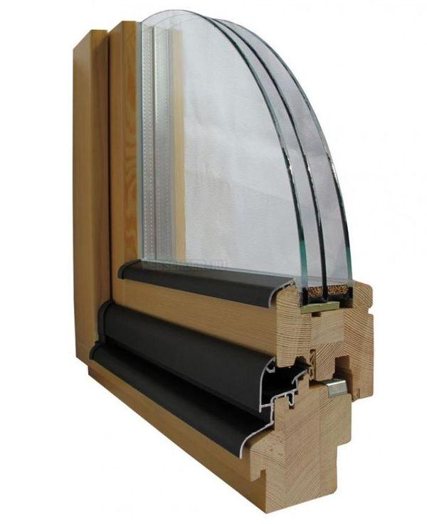двухрамные окна из дуба